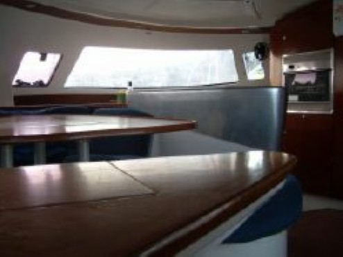 Preowned Sail Catamarans for Sale 2003 Bahia 46 Layout & Accommodations